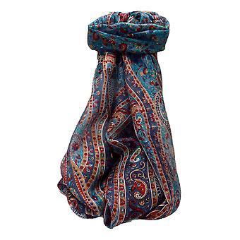 التوت الحرير التقليدية وشاح طويل كالياش البحرية من قبل باشمينا والحرير