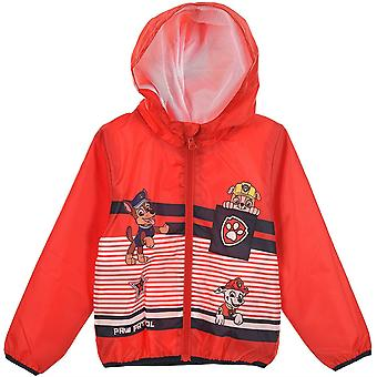 Boys SE1344 Paw Patrol Lightweight Hooded Jacket with Bag