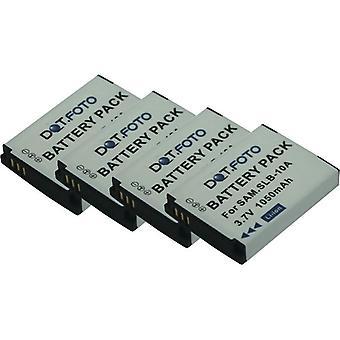 4 x Dot.Foto batería de reemplazo Samsung SLB-10A - 3.7v / 1050mAh