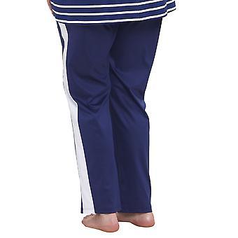Rosch 1194661-16516 Pantalon de pyjama Bleu Foncé Courbe Femme
