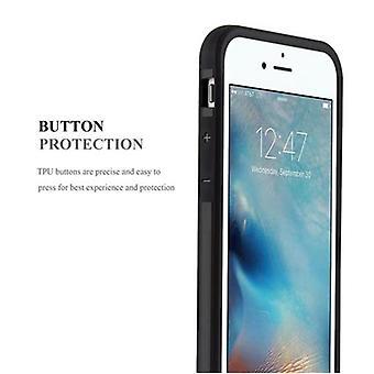 מקרה קדובו עבור Apple iPhone 6/iPhone 6S-במקרה שחור שומר-קשה TPU מקרה מגן סיליקון מקרה לכסות היברידית כיסוי בחוץ העיצוב הכבד חובה