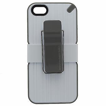 Puregear النفعية الهاتف الذكي حالة لدعم أبل اي فون SE /5/5S - أبيض