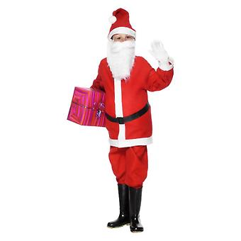 Boys Childs Santa Boy Christmas Fancy Dress drakt