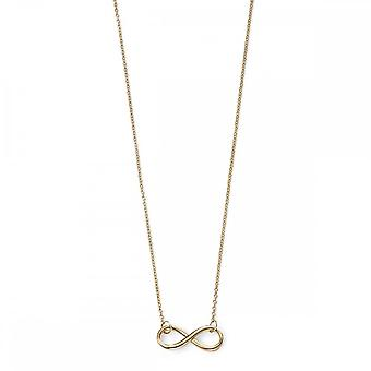 Elements Gold Elements 9ct Yellow Gold Infinity Necklace GN231
