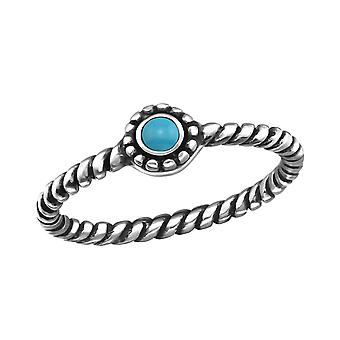 Round - 925 Sterling Silver Jewelled Rings - W27895x
