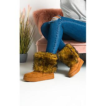 IKRUSH النساء ميلا رقيق أحذية الكاحل