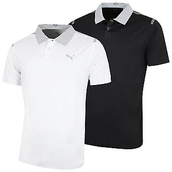 Puma Golf Mens Bonded DryCELL UPF 50 Moisture Wicking Polo Shirt