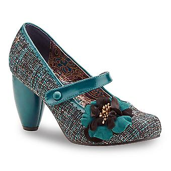 Joe Browns Couture Grey & Turquoise Rosalind Mary Jane Shoes