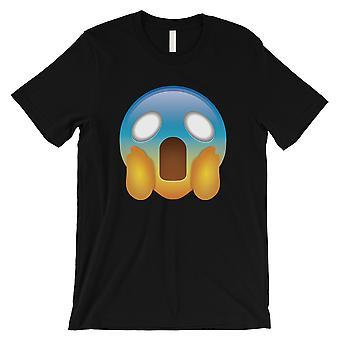 Emoji-يصرخ الرجال الأسود مخيف فرحان الفكاهة هالوين تي شيرت