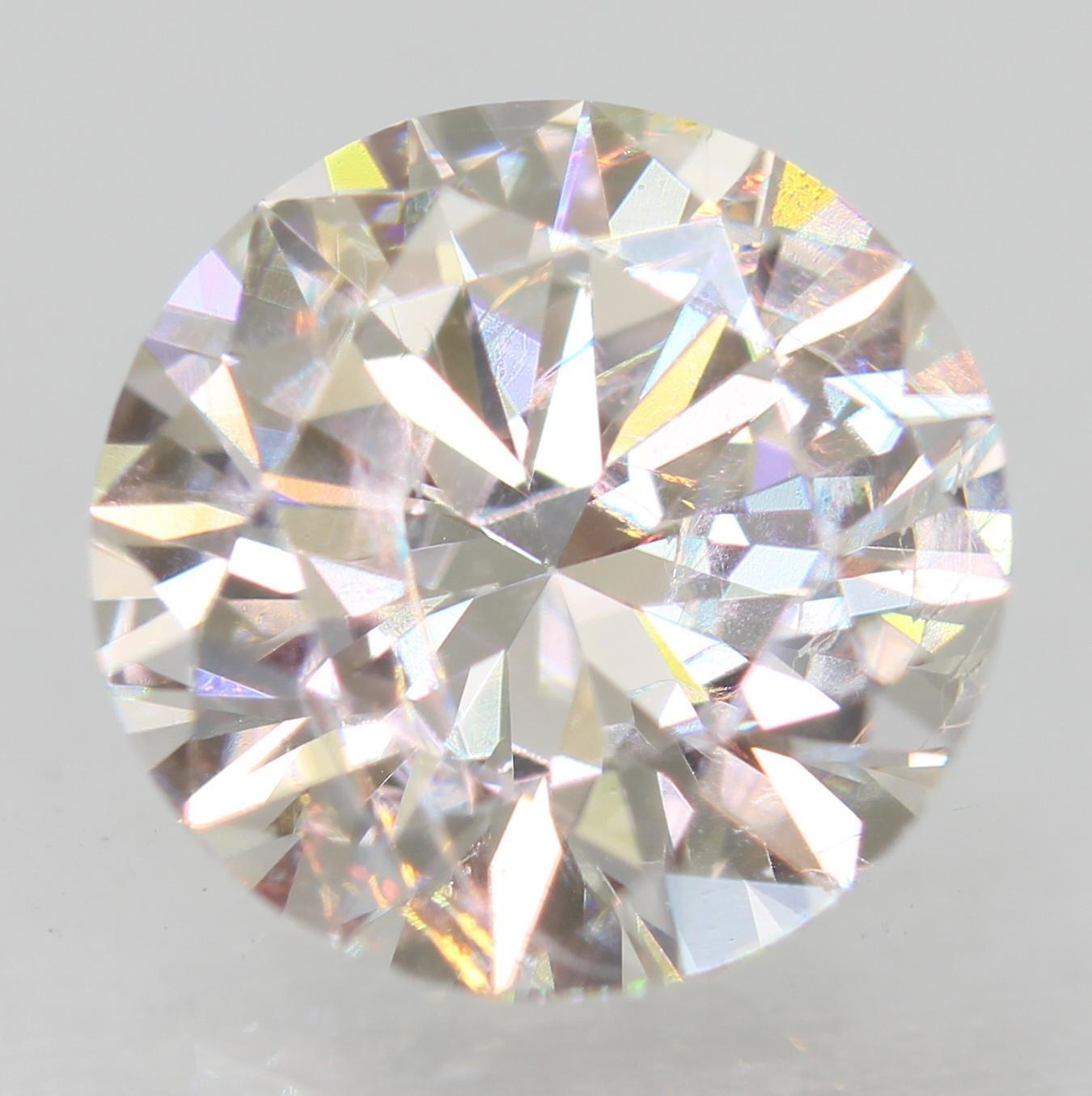 Certified 1.35 Carat E VS1 Round Brilliant Enhanced Natural Loose Diamond 7.23mm