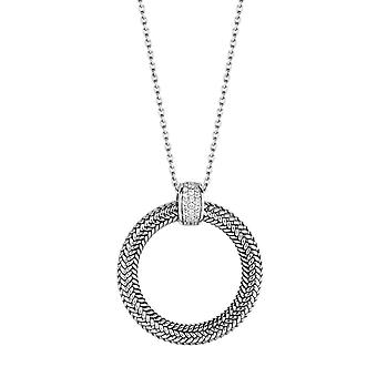 Colar Ti Sento cintilantes luzes 3925ZI-48 - colar preto prata anel óxidos de mulher de zircónio