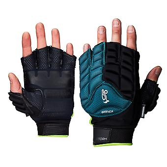Kookaburra 2018 Storm Field Hockey Fingerless Hand Glove Protection Turquoise