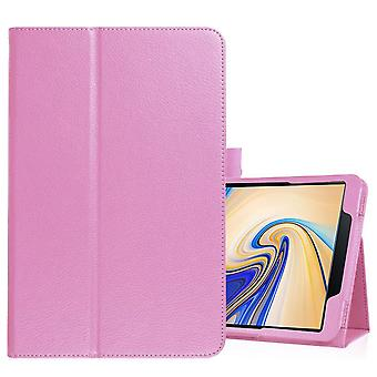 For Samsung Galaxy Tab S4 10.5in Pink Lychee Texture Folio Leather Case,Stand