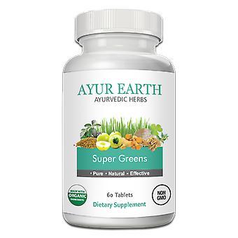 AYUR EARTH Super Greens Organic Ayurvedic Blend ( 60 Tablets)