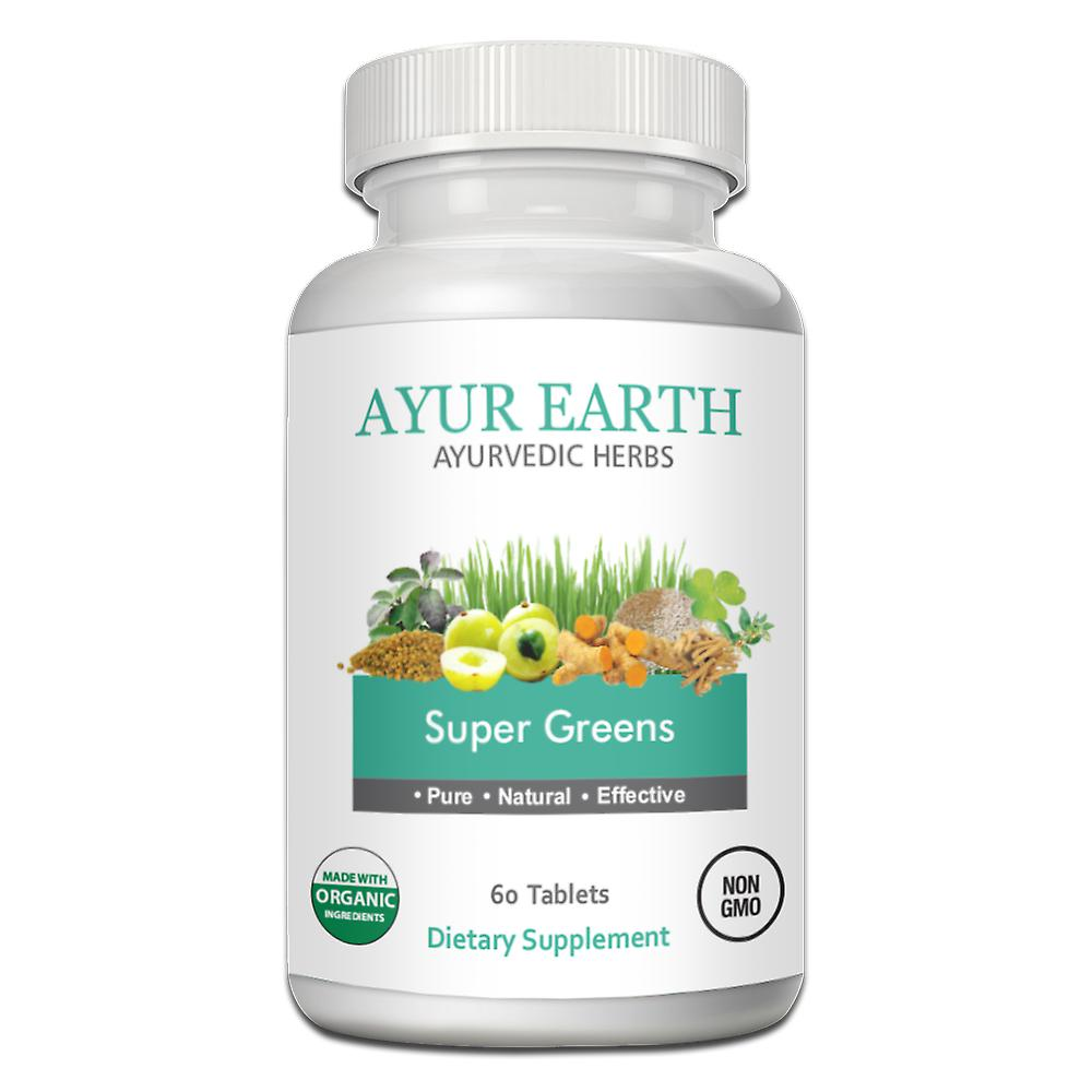 AYUR EARTH Super Greens Organic Ayurvedic Blend ( 60 Tablets)