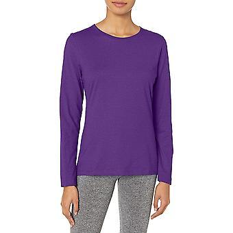Hanes Women's Long Sleeve Tee, Violet Splendor,, Violet Splendor, Size Large