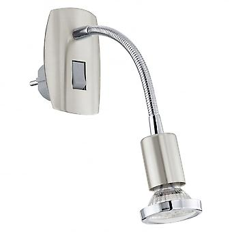 Eglo Mini Long Neck Chrome Wall Spotlight