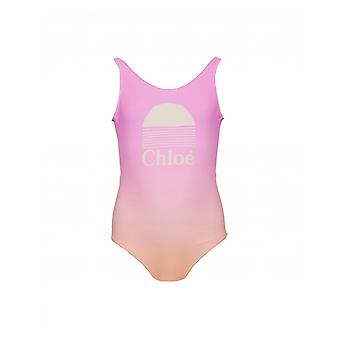Chloe Childrenswear Logo Dip Dye Bathing Suit