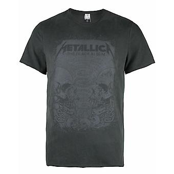 Amplified Metallica The Black Album Men's Adults Grey T-shirt Top