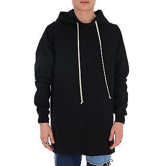 Rick Owens Ru20s7285ba09 Men's Black Cotton Sweatshirt