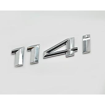 Silver Chrome BMW 114i Car Model Rear Boot Number Letter Sticker Decal Badge Emblem For 1 Series E81 E82 E87 E88 F20 F21 F52 F40