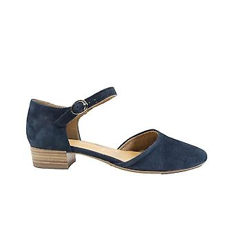Tamaris 24210 Navy Suede Leather Womens Summer Shoes