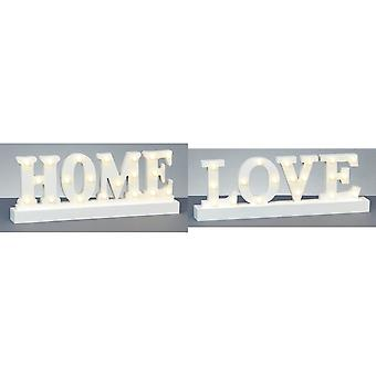 Christmas Shop Wooden Home/Love Lit Sign