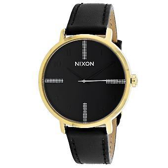Nixon Mujeres's Flecha Cuero Negro Reloj - A1091-2879