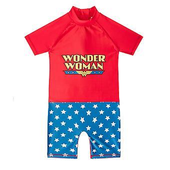 DC Comics Wonder Woman Official Gift Toddler Girls Kids Swim Surf Suit