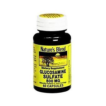 Nature's blend glucosamine sulfate, 500 mg, capsules, 60 ea