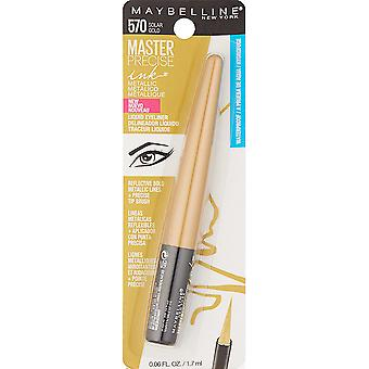 Maybelline New York Master Precise Tinte Metallic Liquid Liner, Solar Gold