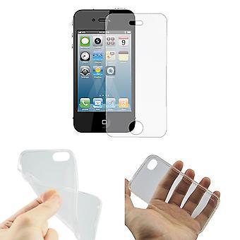 أبل أي فون 4/4s متنقلة تغطي حالة الترا رقيقة فقط تغطية القضية 0.3 مم قذيفة دبابة الزجاج غطاء الزجاج الحقيقي عرض الحماية
