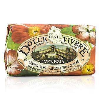 Dolce vivere sabão natural venezia gerânio vermelho, nuvem de arroz e flor de algodão 189782 250g/8.8oz