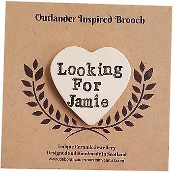 Deborah Cameron Outlander Inspired Ceramic Brooch - Looking for Jamie