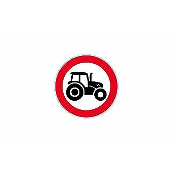 Sticker sign plaque signage wears warning panel tractor