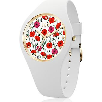 Ice Watch - Armbanduhr - Unisex - ICE flower - White poppy - Small - 3H - 016657