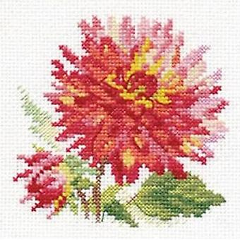 Alisa Cross Stitch Kit - Dahlia