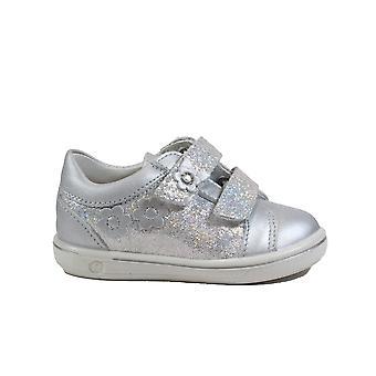 Ricosta Niddy 2622200-411 Zilveren Lederen Meisjes Rip Tape Schoenen
