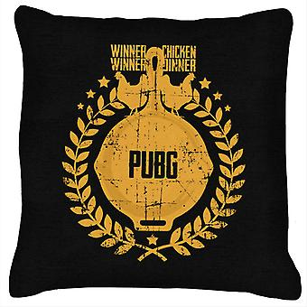 PlayerUnknown Battlegrounds Chicken Dinner Pan Crest Cushion