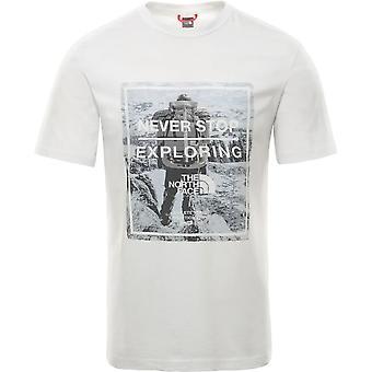 ノースフェイスグラフィックT9493MLG5ユニバーサルサマーメンTシャツ