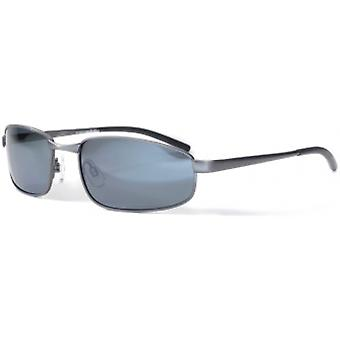 Bloc Eyewear Square Gun Sunglasses (S11 Grey Polarised/Cat 3 Lens)