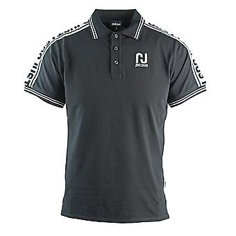 Just Cavalli Sports Logo Black Polo Shirt