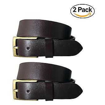 Bradley crompton donne multipack marrone & marrone twin pack pieno grano di pelle cinture formali bctpb4