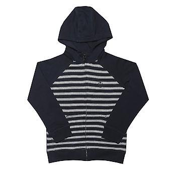 Boy's Henri Lloyd Junior Stripe Zip Hoody in Blauw