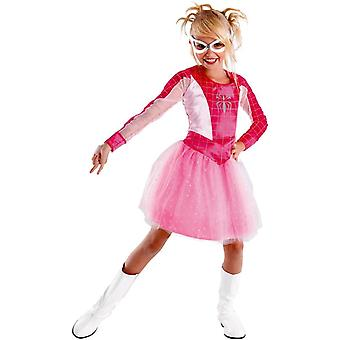 Spidergirl roze kind kostuum