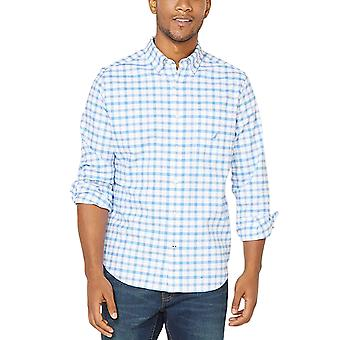 Nautica Men's Checked Print Shirt Classic Fit Svart