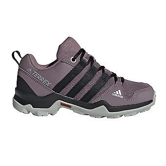 adidas Terrex AX2R Kids Girls Low Cut Hiking Trainer Shoe Purple