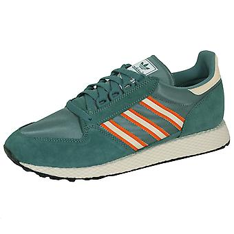 Adidas forest grove men's raw green trainers