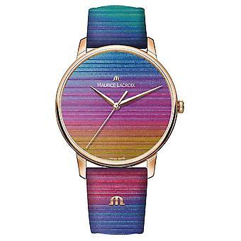 Maurice Lacroix Eliros Rainbow Limited Edition | Rainbow Lederen Band EL1118-PVP01-090-1 Horloge