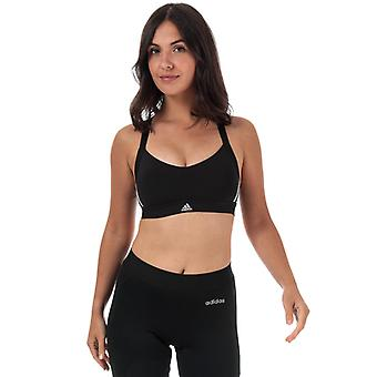 Women's adidas All Me 3-Stripes Sports Bra en noir